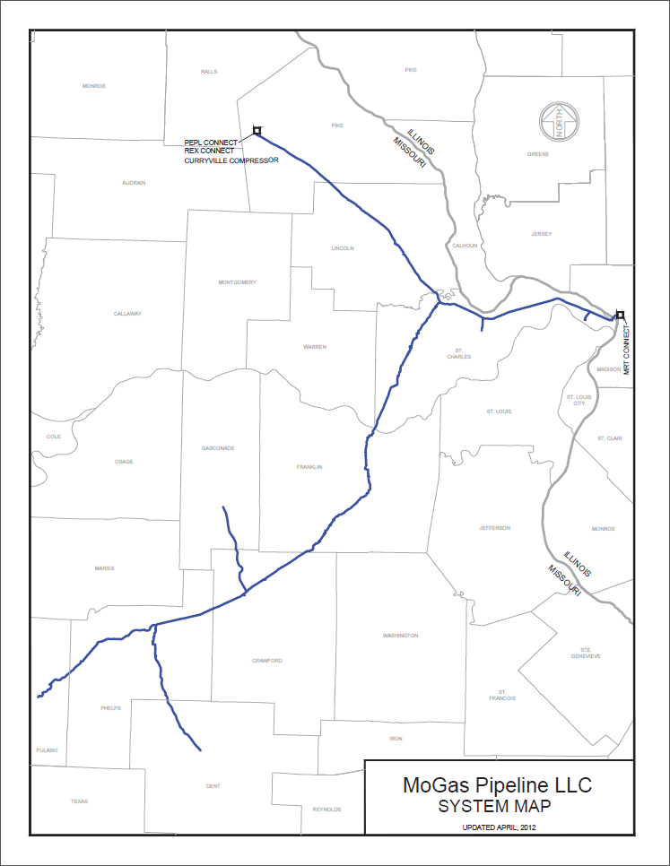 MoGas Pipeline map